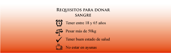 requisitos donar